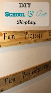 The perfect solution to displaying children's work while reducing clutter! www.twoworkingparents.com